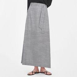 casey stripe long skirt
