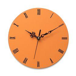 이니셜각인 무소음벽시계 로만 오렌지
