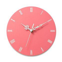이니셜각인 무소음벽시계 로만 핑크