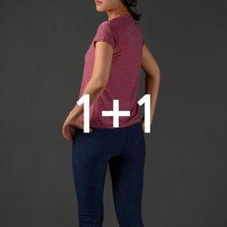 [1 & 1] DURAN 여성 베이직 티셔츠+레깅스 요가복세트