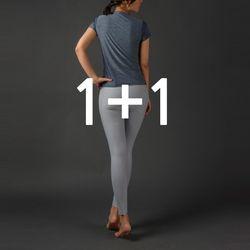 [1 & 1] DURAN 여성 슬림핏 티셔츠+레깅스 요가복세트