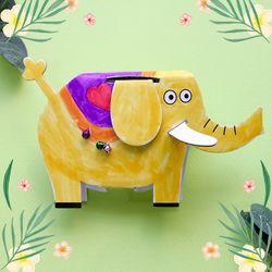 페이퍼아트-코끼리