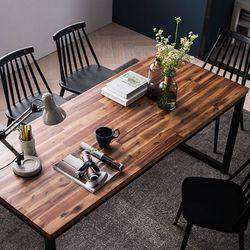 로빈 아카시아원목 6인식탁세트(의자)