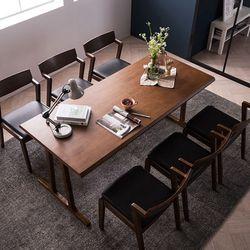 바티코 고무나무원목 6인식탁세트(의자)