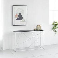 멀바우 매트 블랙 디자인 콘솔 다리 화이트