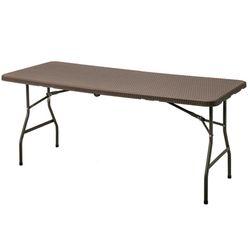 접이식 다이닝 테이블 라탄풍 브라운