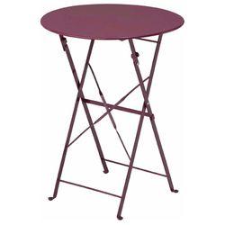 접이식 카페 테이블 버건디