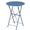 접이식 카페 테이블 블루