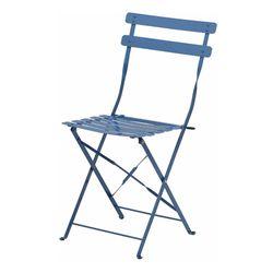 접이식 카페 의자 블루