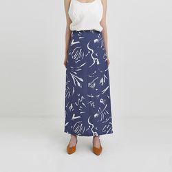 drawing long skirt (2colors)