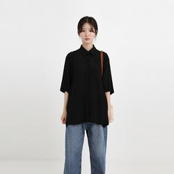 silky boxy shirt (2colors)