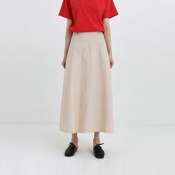 nylon maxi skirt (2colors)