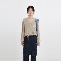 oblique strap cardigan (3colors)