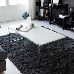자작 화이트 크롬 거실 소파 테이블 상판 36T 다리 40각