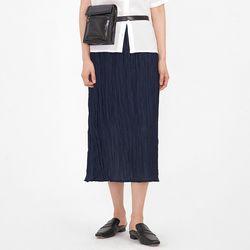crease point long skirt