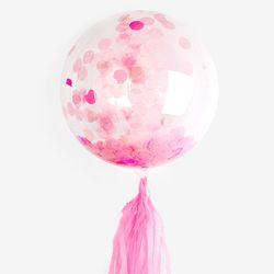 핑크 도트 태슬 파티풍선 set