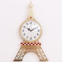 에펠탑 골드 무소음 벽시계 예쁜벽시계 CH1402869