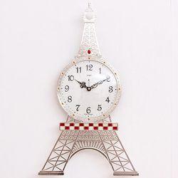 에펠탑 실버 무소음 벽시계 예쁜벽시계 CH1402870