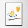 유니크 일본 디자인 포스터 M 덴뿌라 맥주 A3(중형)