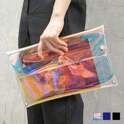 5076 PVC 클러치 백 (3colors)