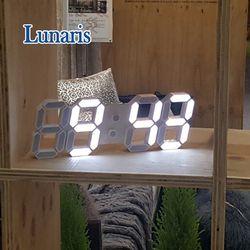 루나리스 미니 LED 탁상 벽시계 24.5cm