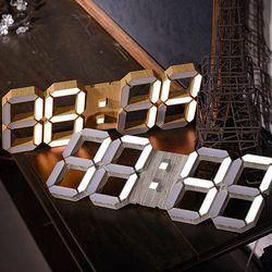 루나리스 우드 인테리어 LED 대형 벽시계