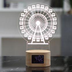아크릴 LED 인테리어 무드등 탁상시계
