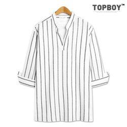 [탑보이] 스크린 스트라이프 7부셔츠 (ZT175)