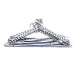 휴대용 접이식 옷걸이 10개 세트-Silver