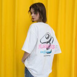 [남여공용]아보카도 허밍 티셔츠 - [화이트]