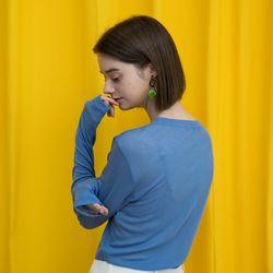 아이스 롱 슬리브 티셔츠 - [블루]