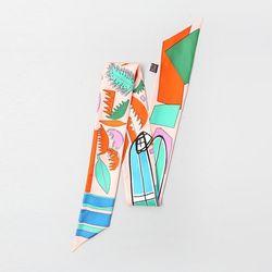 Silk Pastel Petit Tie Scarf