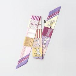Silk Horse Petit Tie Scarf