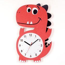 무소음 아이방 시계 동물친구들 - 티라노