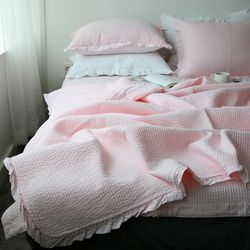 코튼워싱 핑크 여름이불-싱글이불만(SS)
