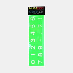 NUMBER 0 to 9 STICKER - Neon Green