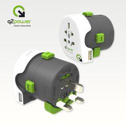 [~11/30까지] [Q2 Power] Q DAPTER USB 월드어댑터 USB 2.1A 2.100110+LD-PA1