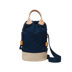 Jute Flap Shoulder bag Navy