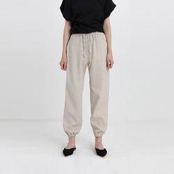 linen banding jogger pants (2colors)