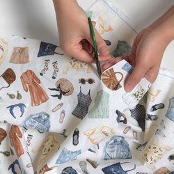 [Fabric] Wish List Pattern Linen (위시리스트)