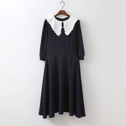 Blouson Lace Dress