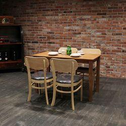 이스테지아 원목 4인 식탁 세트 (피노)
