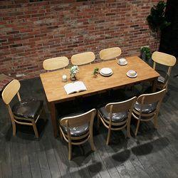 이스테지아 원목 8인 S 식탁 세트 (피노)