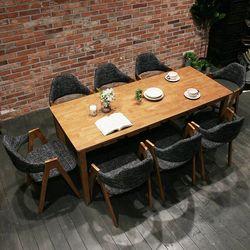이스테지아 원목 8인 식탁 세트 (104)