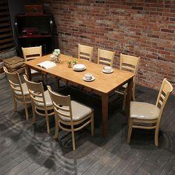 이스테지아 원목 8인 식탁 세트 (빈스)