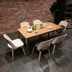 이스테지아 원목 6인 식탁 세트 (라운지)
