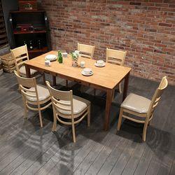 이스테지아 원목 6인 식탁 세트 (빈스)
