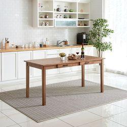 이스테지아 원목 6인 식탁 (의자별도)