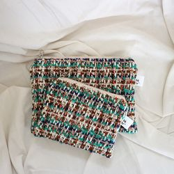 tweed pouch  ( 20x14 )