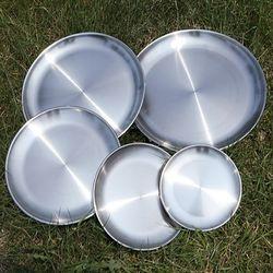 스텐레스 캠핑용 5P 접시세트캠핑용 식기세트